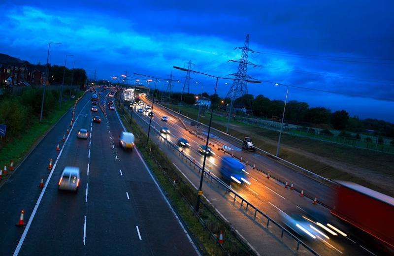 The baby was born along the M60 motorway (Picture: Getty)