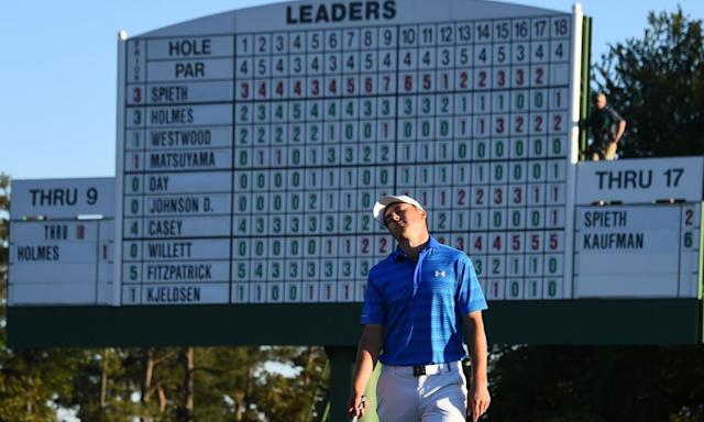 "<span class=""element-image__caption"">Jordan Spieth blew his chance at the 2016 Masters after a seven on the par three 12th and a Danny Willett charge.</span> <span class=""element-image__credit"">Photograph: Jim Watson/AFP/Getty Images</span>"