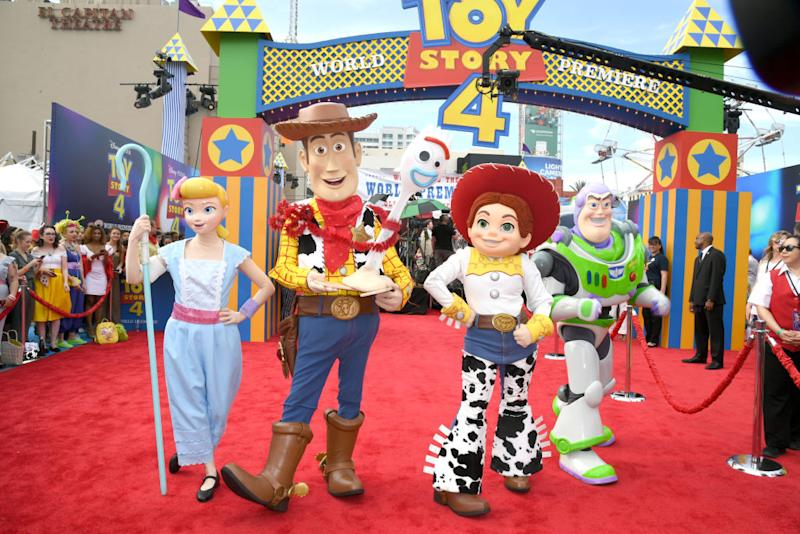 "Characters from ""Toy Story"" appear at the premiere of ""Toy Story 4"" on June 11 in Los Angeles. (Photo: Kevin Winter/Getty Images)"