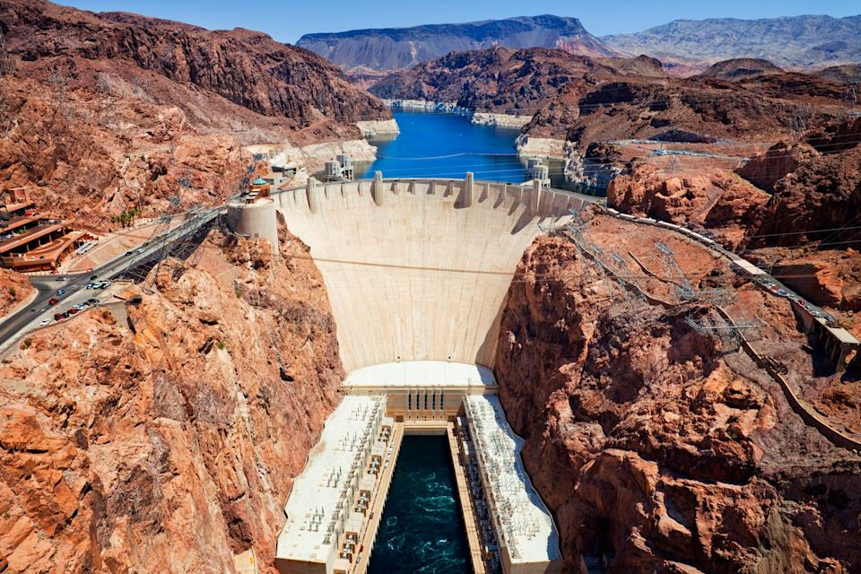 The Hoover Dam reopened to the public Tuesday, seven months after it closed in response to the COVID-19 pandemic. Federal officials say visitors will be able to access all open areas and visit the Mike O'Callaghan-Pat Tillman Memorial Bridge plaza and walkway.