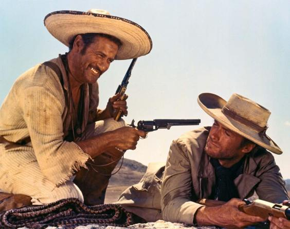 Eli Wallach and Clint Eastwood in 'The Good, the Bad and the Ugly' (United Artists)