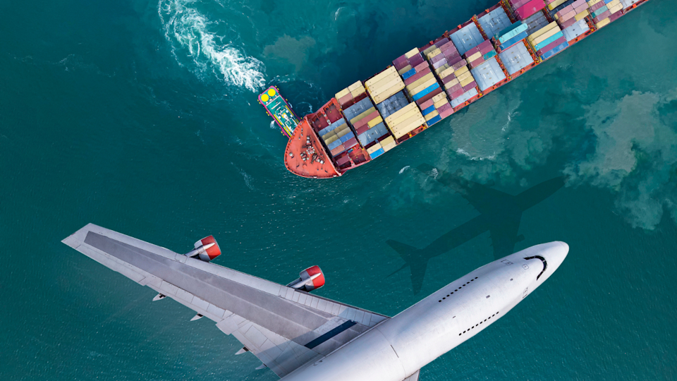 A lack of air travel has put further pressure on shipping. (Image: Getty).