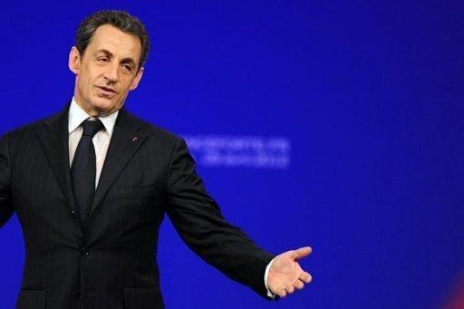 France's incumbent president and Union for a Popular Movement (UMP) party candidate for the French 2012 presidential election Nicolas Sarkozy delivers a speech during a campaign meeting in the southwestern city of Toulouse