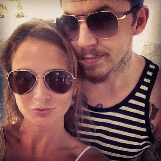 Celebrity Twitpics: Made in Chelsea star Millie Mackintosh and boyfriend Professor Green are currently on holiday, with Millie tweeting regular updates to her followers, including this cute snap of the pair.
