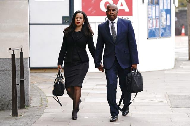 Leicester East MP Claudia Webbe arrives at Westminster Magistrates' Court