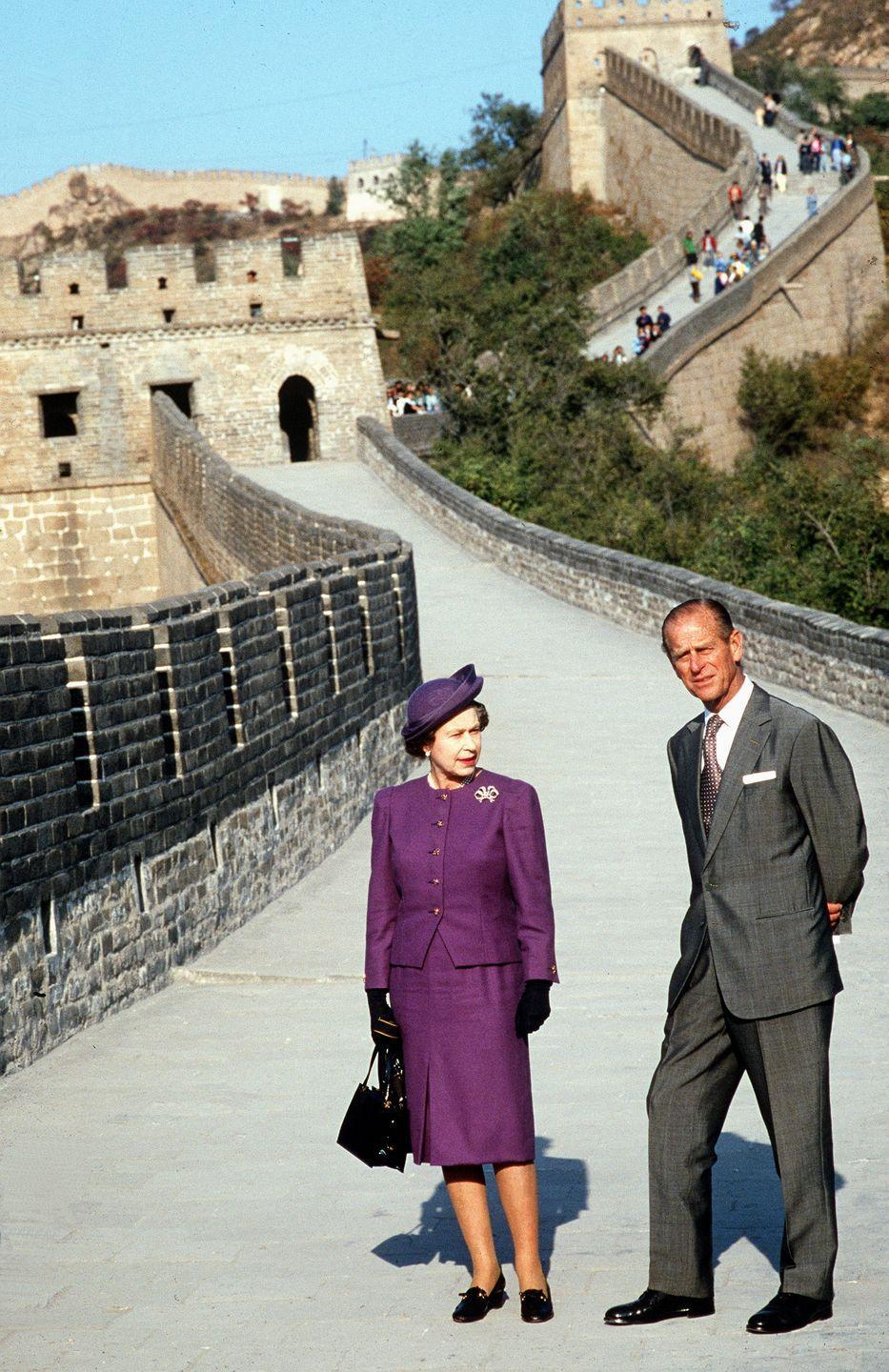"""<p>The royal couple cut quite a fashionable pair while visiting The Great Wall of China in Badaling, on October 14, 1986. Prince William on their relationship: """"He makes her laugh because some of the things he says and does and the way he looks at life is obviously slightly different than her, so together they're a great couple.""""</p>"""
