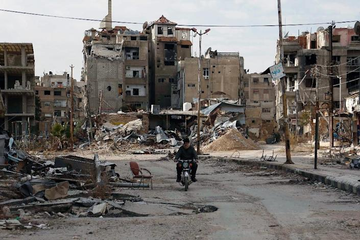 The besieged Damascus suburb of Harasta was listed by the UN among areas in urgent need of supplies (AFP Photo/Abdulmonam Eassa )