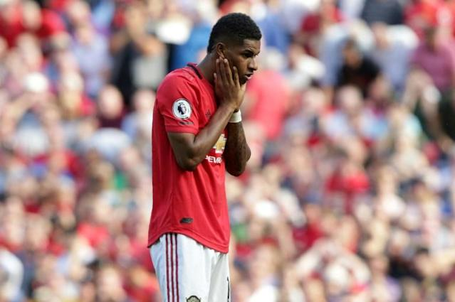 Making up to do: Marcus Rashford missed a penalty in Manchester United's 2-1 home defeat to Crystal Palace last weekend (AFP Photo/Lindsey Parnaby)