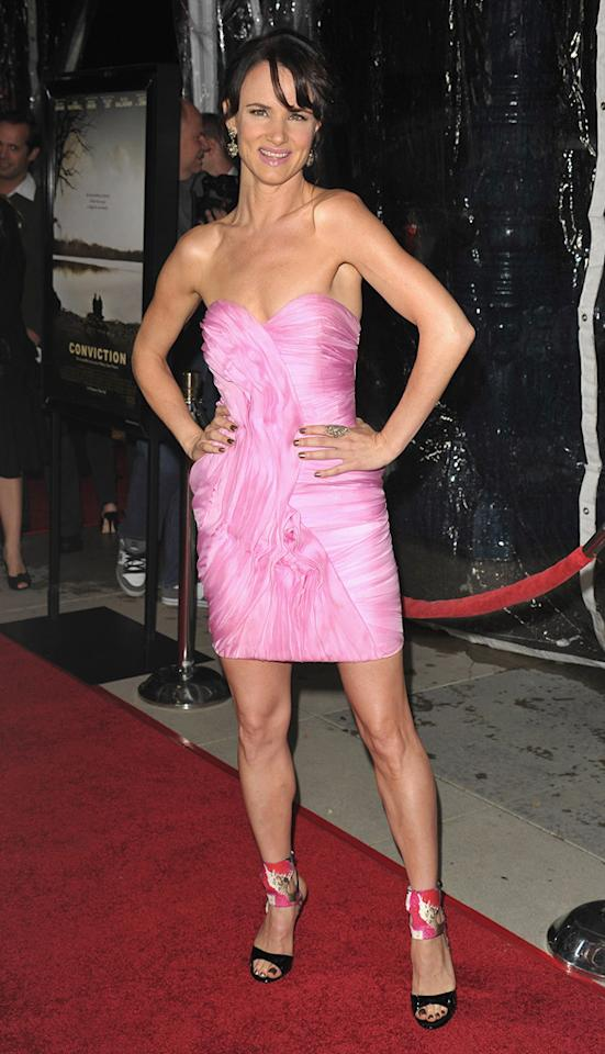 """<a href=""""http://movies.yahoo.com/movie/contributor/1800019350"""">Juliette Lewis</a> at the Los Angeles premiere of <a href=""""http://movies.yahoo.com/movie/1810071450/info"""">Conviction</a> on October 5, 2010."""