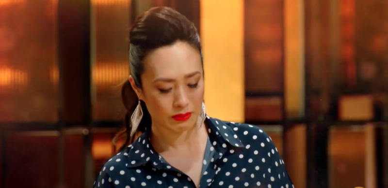 Melissa Leong crying on MasterChef 2020