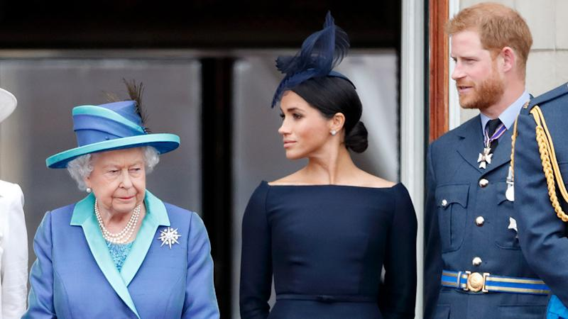 The Queen with Meghan Markle and Prince Harry