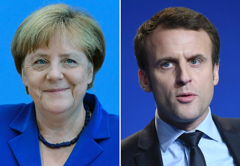 Germany's Chancellor Angela Merkel had emphatically thrown her support behind French presidential candidate Macron