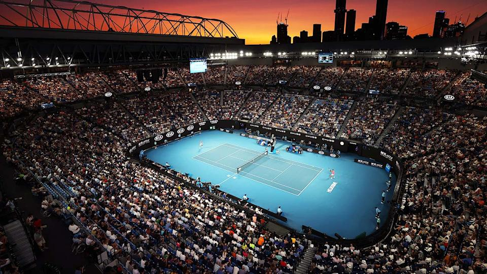 Rod Laver Arena, pictured here during the 2020 Australian Open.