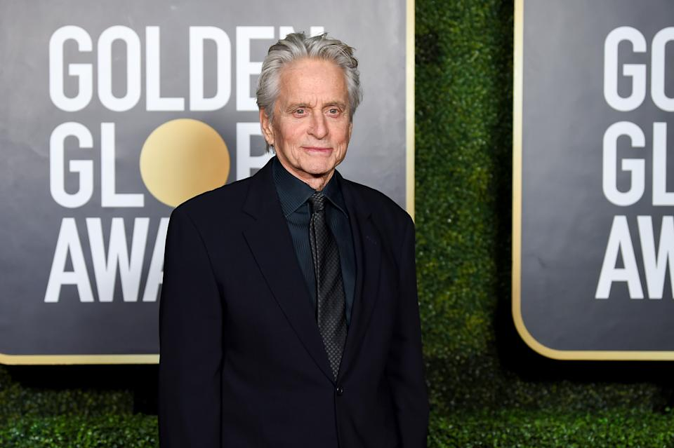 NEW YORK, NEW YORK - FEBRUARY 28: Michael Douglas attends the 78th Annual Golden Globe® Awards at The Rainbow Room on February 28, 2021 in New York City.  (Photo by Dimitrios Kambouris/Getty Images for Hollywood Foreign Press Association)