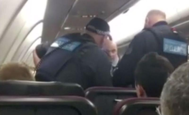 A plane had to turn around when Luke became disruptive on a flight from Perth to Brisbane. Source: 7 News