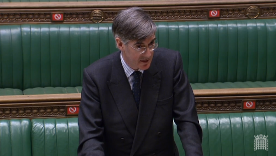 Commons Leader Jacob Rees-Mogg responds to questions from MPs (PA)