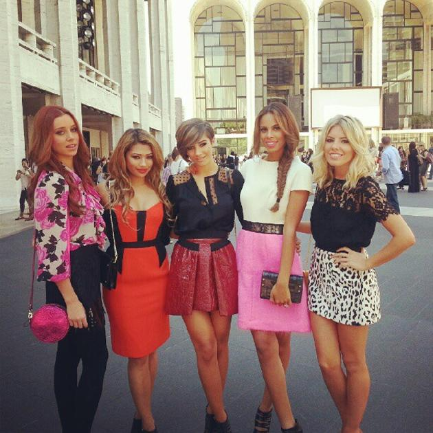 Celebrity photos: The Saturdays are continuing their assault on the American charts by making a very stylish appearance at New York Fashion Week. The girls looked amazing in their styled ensembles and they all tweeted how excited they were to be there. Oh to be a Saturday.