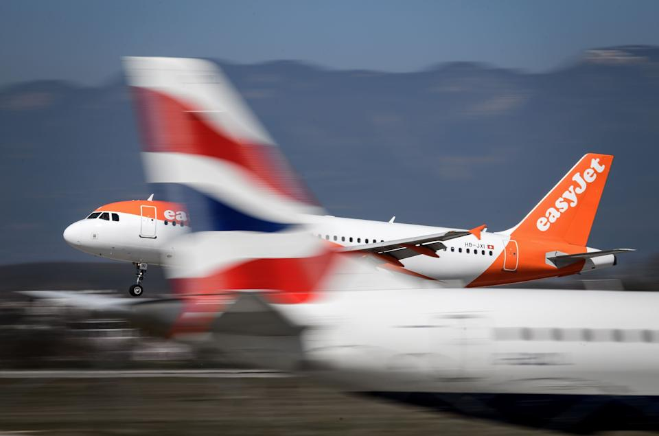 Both easyJet and British AIrways saw their stocks rise on Wednesday morning. Photo: Getty Images