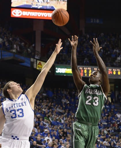 Harrow, Kentucky top Marshall, 82-54