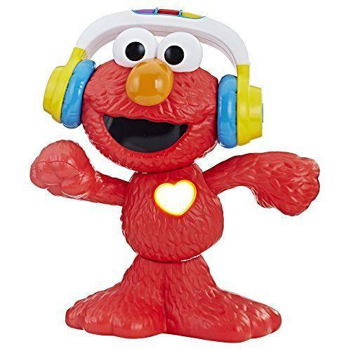 "<p><strong>Sesame Street </strong></p><p>amazon.com</p><p><strong>$43.52</strong></p><p><a href=""http://www.amazon.com/dp/B076LXD6MM/?tag=syn-yahoo-20&ascsubtag=%5Bartid%7C10055.g.5150%5Bsrc%7Cyahoo-us"" rel=""nofollow noopener"" target=""_blank"" data-ylk=""slk:Shop Now"" class=""link rapid-noclick-resp"">Shop Now</a></p><p>Get those jitterbugs up and moving with Elmo, who <strong>sings, plays music, and wiggles to the beat</strong><strong>.</strong> Along the way, he'll give encouragement by saying things like, ""Elmo is ready for a dance party!"" and other cute phrases by pressing the heart-shaped button. PS: His headphones double as a carrying handle! <em>Ages 18 months+</em><br></p>"