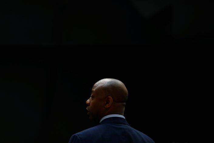 Sen. Tim Scott, R-S.C., is seen on Capitol Hill in Washington, D.C., in March. (Eric Thayer/Reuters)