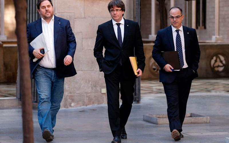 Catalonia crisis relief rally helps global stocks hit record high; attention turns to Fed meeting minutes