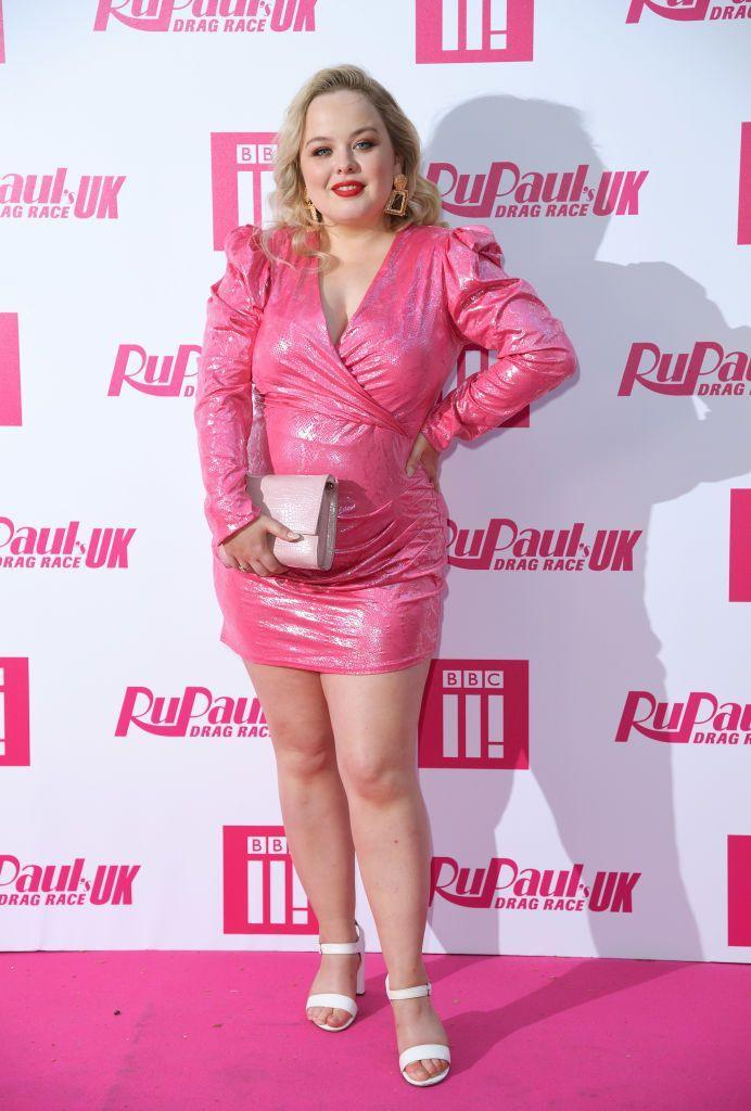 <p>Coughlan wore a pink mini dress for the event. </p>