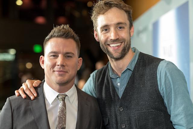 """Channing Tatum and Reid Carolin attend the premiere Of """"War Dog: A Soldier's Best Friend"""" at Directors Guild Of America on November 6, 2017 in Los Angeles, California. (Greg Doherty via Getty Images)"""