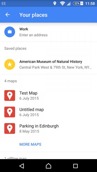 google maps tips tricks saved places