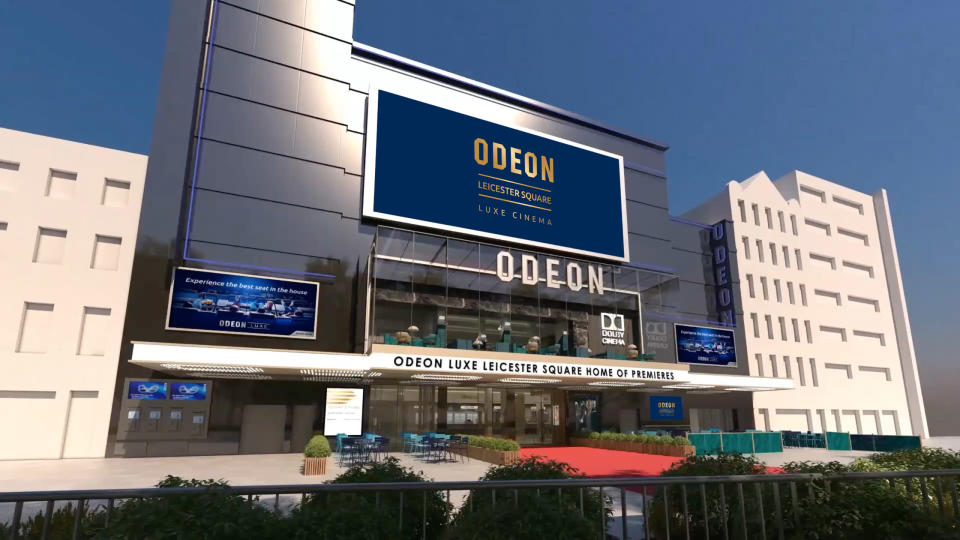 This artist's rendition shows how the new Odeon will look once the scaffolding comes off. (Odeon)