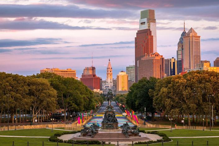 """<p><strong>Established in:</strong> 1681</p><p>Philadelphia has a <a href=""""https://www.history.com/topics/us-states/philadelphia-pennsylvania"""" rel=""""nofollow noopener"""" target=""""_blank"""" data-ylk=""""slk:rich history"""" class=""""link rapid-noclick-resp"""">rich history</a> that goes far back. Before European settlers arrived, Native American tribes like the Lenape hunter gatherers lived there, back in 8000 B.C. In the early 1600s, Dutch, English and Swedish merchants came to the area, and in 1681, Quaker pacifist William Penn arrived to take over. </p>"""
