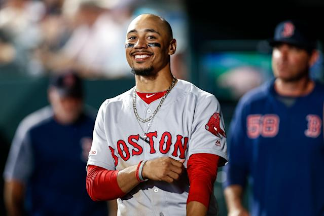 Boston Red Sox star Mookie Betts has set a record for an arbitration contract in MLB. (Isaiah J. Downing-USA TODAY Sports)