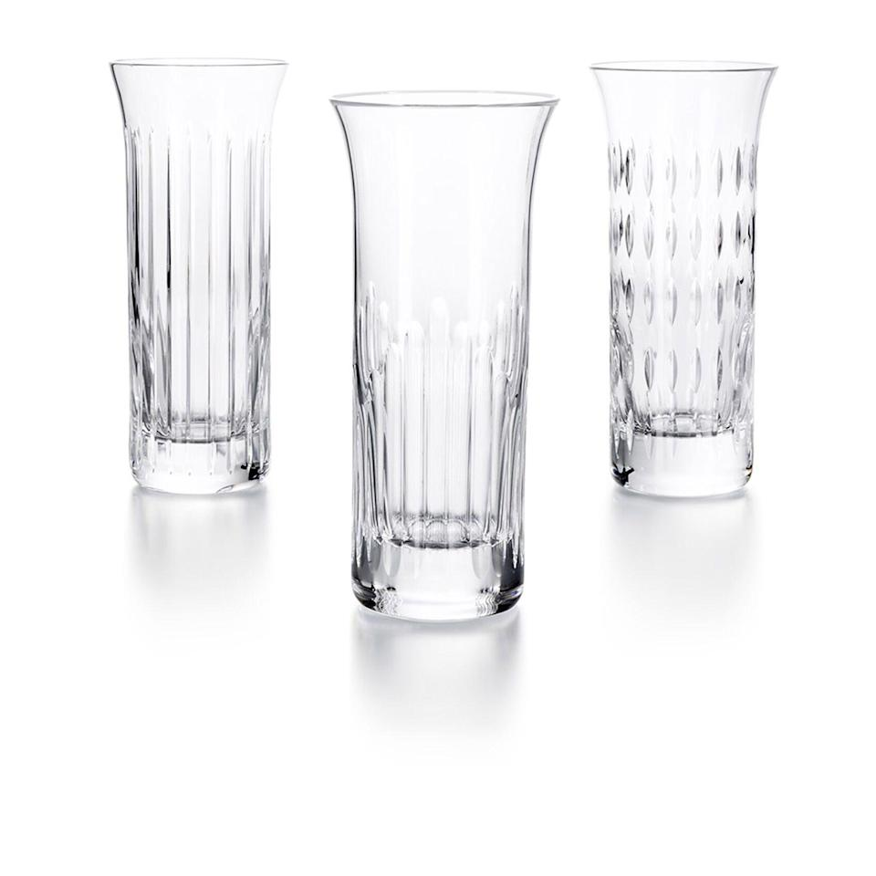 """<p><strong>https://us.baccarat.com/en/decoration/vases-and-bowls/flora-vase-set-2810832.html</strong></p><p>baccarat.com</p><p><strong>$475.00</strong></p><p><a href=""""https://us.baccarat.com/en/decoration/vases-and-bowls/flora-vase-set-2810832.html#start=25"""" rel=""""nofollow noopener"""" target=""""_blank"""" data-ylk=""""slk:Shop Now"""" class=""""link rapid-noclick-resp"""">Shop Now</a></p><p>""""Peonies, just peonies, in various shades in the center of the dining room table, clustered on the front hall table, or commanding attention in the center of a mantel,"""" Moss insists. </p>"""
