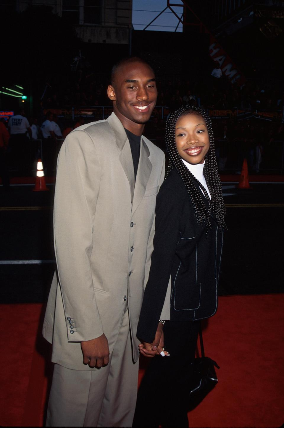 Singer/actress Brandy w. professional basketball player Kobe Bryant. (Photo by Mirek Towski/DMI/The LIFE Picture Collection via Getty Images)