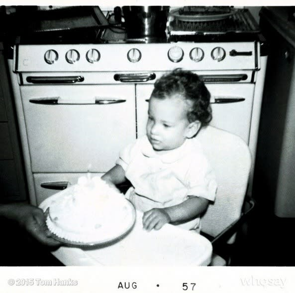 """<p>Tom Hanks, remembering his early days in 1950s California: """"This kid had another birthday today. This photo seems like yesterday. Hanx."""" -<a href=""""https://www.instagram.com/p/47keSLF7Xz/"""" rel=""""nofollow noopener"""" target=""""_blank"""" data-ylk=""""slk:@tomhanks"""" class=""""link rapid-noclick-resp"""">@tomhanks</a> (Instagram)</p>"""