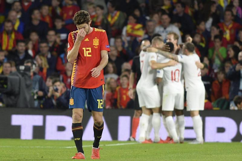 Spain were humbled on their own turf. (AFP/Getty Images)