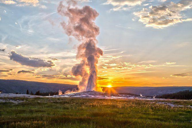 "<p><strong><a href=""https://www.viator.com/tours/Yellowstone-National-Park/Yellowstone-National-Park-Small-Group-Wildlife-Safari-by-Jeep/d22411-6029YOFWILD"" rel=""nofollow noopener"" target=""_blank"" data-ylk=""slk:Yellowstone Old Faithful, Waterfalls and Wildlife Day Tour"" class=""link rapid-noclick-resp"">Yellowstone Old Faithful, Waterfalls and Wildlife Day Tour</a></strong></p><p><strong>Wyoming</strong></p><p>Want to experience Yellowstone? This full-day tour gives you a really great look at Yellowstone National Park with a small group in an air-conditioned vehicle. You'll see famous stops like Old Faithful, the Lower Falls of Grand Canyon of Yellowstone, and possibly catch a glimpse of wildlife like bears, wolves, elk, moose, and bison. </p>"