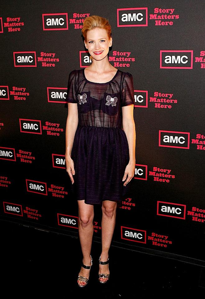 """""""Mad Men"""" star January Jones' sheer ensemble was a sheer mistake. Jesse Grant/<a href=""""http://www.wireimage.com"""" target=""""new"""">WireImage.com</a> - July 28, 2009"""