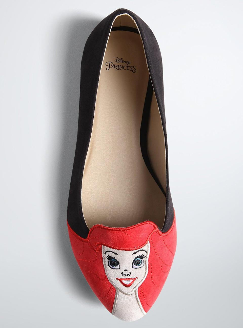 <p>Get rid of their mermaid tale and gift them legs with these <span>Torrid Disney Ariel Flats</span> ($25, originally $40).</p>