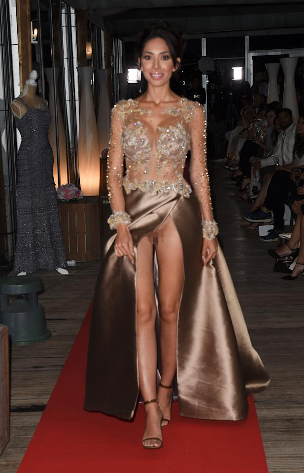 <p>'Teen Mom' star Farrah Abraham went commando while posing for pictures at a catwalk fashion show in Cannes on the 15th May, 2018. Source: Mega </p>