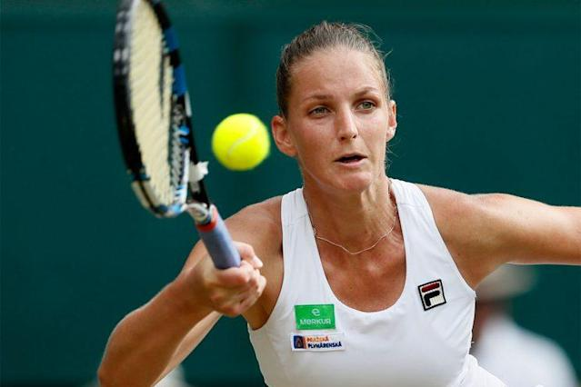 Despite her Wimbledon loss, Karolina Pliskova will rise to No. 1 in the WTA rankings. (AP)