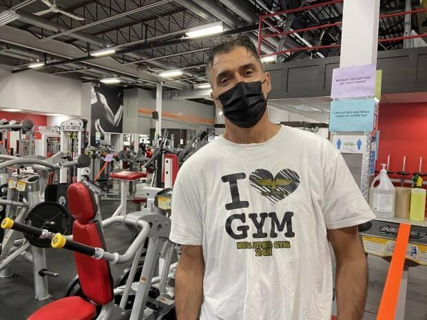 Dan Marino, owner of Mega Fitness Gym 24H, said he never wanted to defy public health rules. Rather, he suggests his staff didn't have the capacity to police gym members. (Pierre-Alexandre Bolduc/Radio-Canada - image credit)