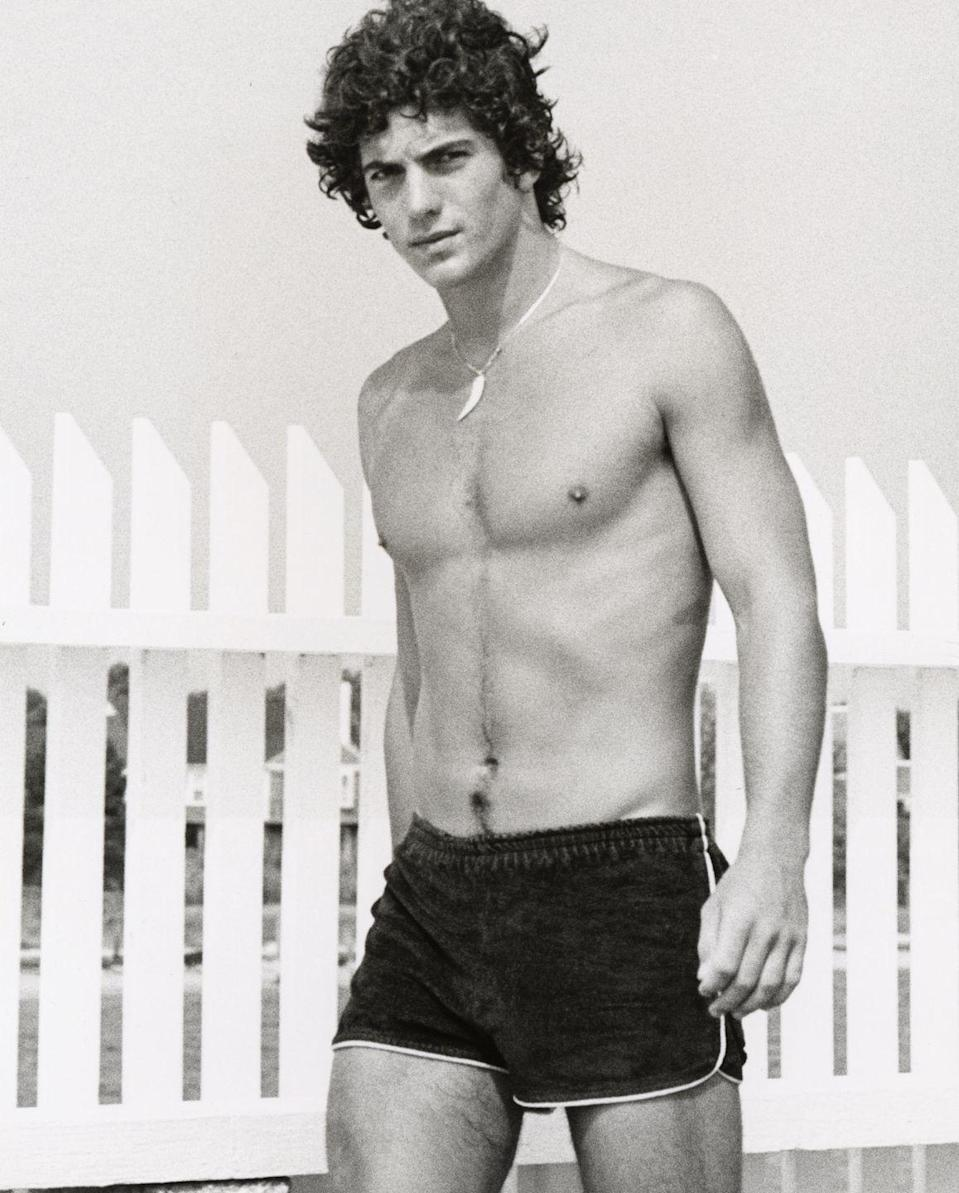 <p>A young John Kennedy Jr. smolders on the beach in Hyannis, Mass. It's important to note that the young Kennedy was also wearing a shell necklace, for which we give him a 10/10. </p>