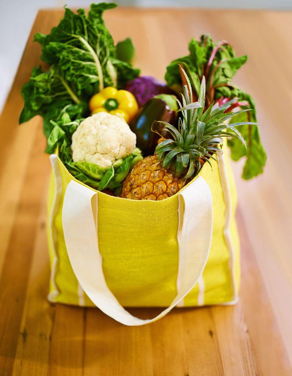 "<p>Reusable grocery bags cut down on wasteful plastic, but they can get grimy with time. Look at the care label on your reusable bags to determine the best way to clean them. If they're not machine-wash safe, clean them thoroughly with a sponge or cloth dipped in sudsy water. Rinse with a clean cloth and let air dry.</p><p><strong>RELATED: </strong><a href=""https://www.goodhousekeeping.com/home-products/g30778245/best-reusable-grocery-bags/"" rel=""nofollow noopener"" target=""_blank"" data-ylk=""slk:The Best Reusable Bags You Can Buy"" class=""link rapid-noclick-resp"">The Best Reusable Bags You Can Buy </a></p>"