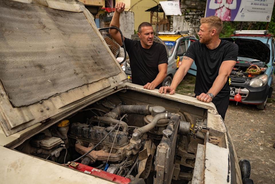 Paddy McGuinness and Andrew 'Freddie' Flintoff in Nepal (BBC Studios/Lee Brimble/PA)