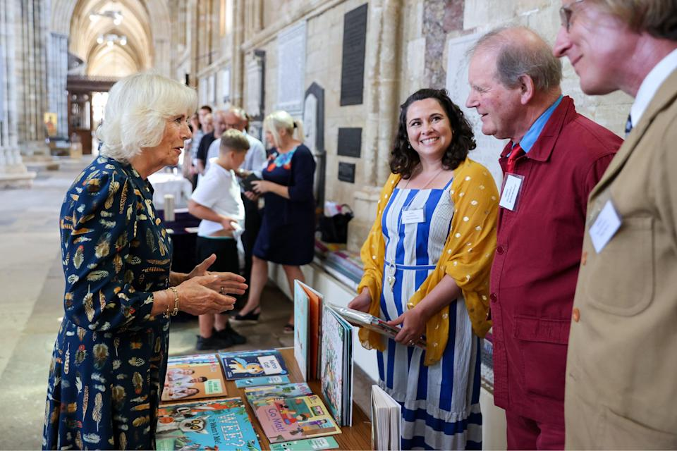 The Duchess of Cornwall meets with author Sir Michael Morpurgo (Chris Jackson/PA) (PA Wire)