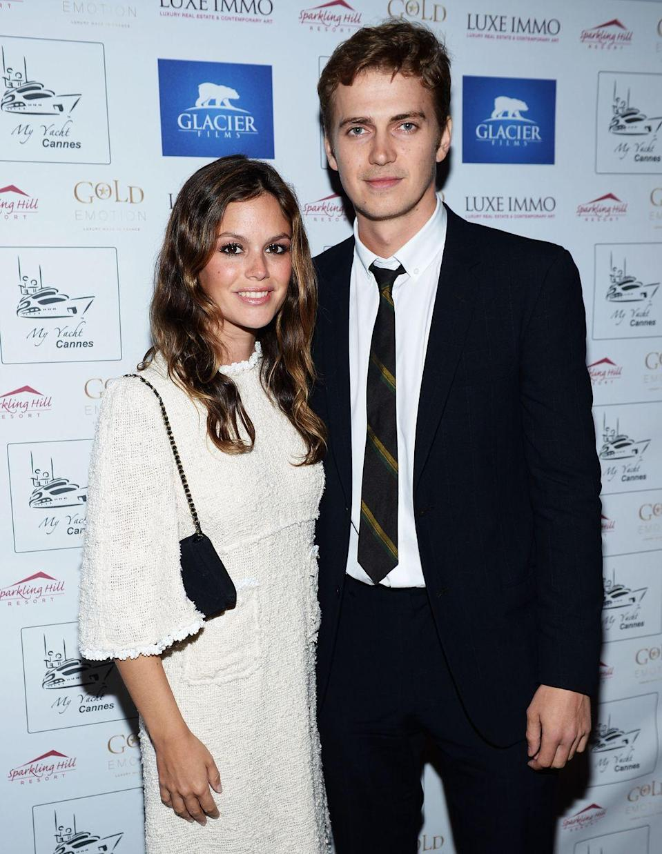 """<p>Actors Rachel Bilson and Hayden Christensen <a href=""""https://www.eonline.com/news/881422/rachel-bilson-and-hayden-christensen-split-after-10-years-they-are-officially-done"""" rel=""""nofollow noopener"""" target=""""_blank"""" data-ylk=""""slk:met on the set of the 2007 film Jumper"""" class=""""link rapid-noclick-resp"""">met on the set of the 2007 film Jumper</a>. By December 2008, the <a href=""""https://www.eonline.com/news/101379/rachel-bilson-s-engagement-ring-revealed"""" rel=""""nofollow noopener"""" target=""""_blank"""" data-ylk=""""slk:couple was engaged"""" class=""""link rapid-noclick-resp"""">couple was engaged</a>. That lasted for nearly two years when the pair called off the engagement in August 2010. They got back together a few months later, and welcomed their daughter in 2014. They officially <a href=""""https://www.eonline.com/news/881422/rachel-bilson-and-hayden-christensen-split-after-10-years-they-are-officially-done"""" rel=""""nofollow noopener"""" target=""""_blank"""" data-ylk=""""slk:called it quits in 2017"""" class=""""link rapid-noclick-resp"""">called it quits in 2017</a> after 10 years.</p>"""