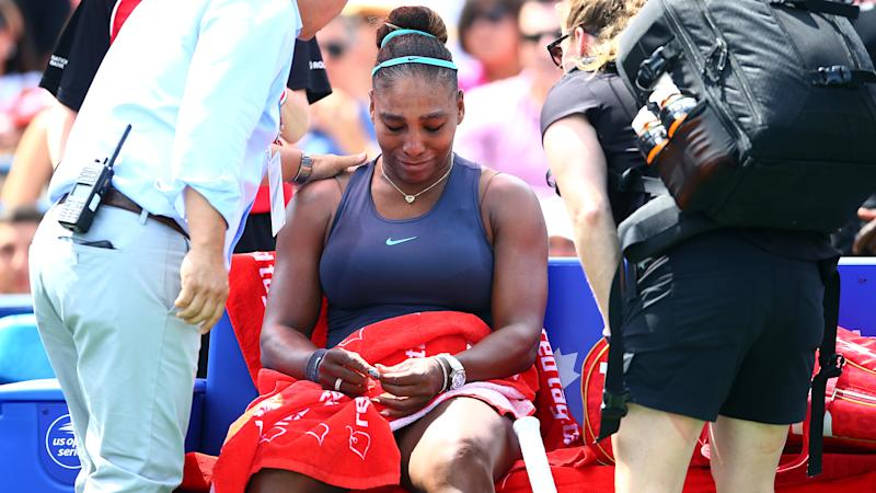 Serena hopeful over back injury after Rogers Cup retirement