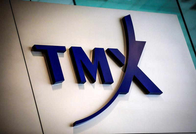 FILE PHOTO: A TMX Group sign, the company that runs the Toronto Stock Exchange, is seen in Toronto