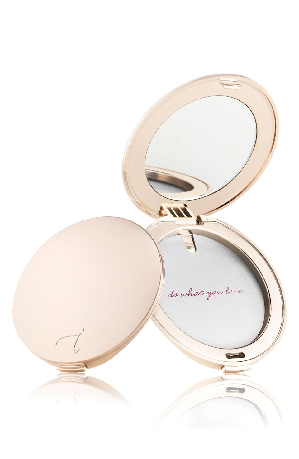 "<p><strong>Jane Iredale</strong></p><p>nordstrom.com</p><p><strong>$18.00</strong></p><p><a href=""https://shop.nordstrom.com/s/jane-iredale-refillable-compact/3116583"" rel=""nofollow noopener"" target=""_blank"" data-ylk=""slk:SHOP NOW"" class=""link rapid-noclick-resp"">SHOP NOW</a></p><p>Though your girl looks perfect 24/7 (obviously), she'll love touching up <a href=""https://www.womansday.com/style/beauty/"" rel=""nofollow noopener"" target=""_blank"" data-ylk=""slk:her makeup"" class=""link rapid-noclick-resp"">her makeup</a> with this glamorous compact.</p>"